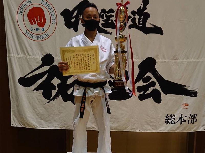 2020年中日本空手道大会 祐心会 舟越恭祐選手が一般男子チャンピオンクラス優勝。